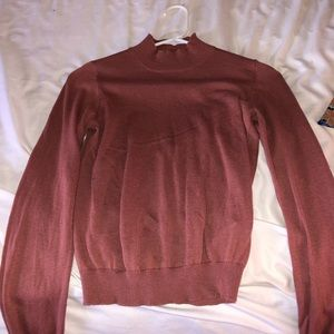 Coral turtle neck sweater